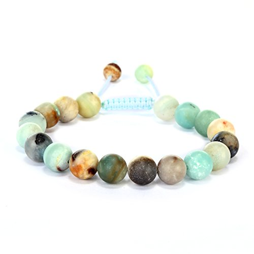 BRCbeads Gemstone Bracelets Matte Amazonite Natural Gemstones Birthstone Healing
