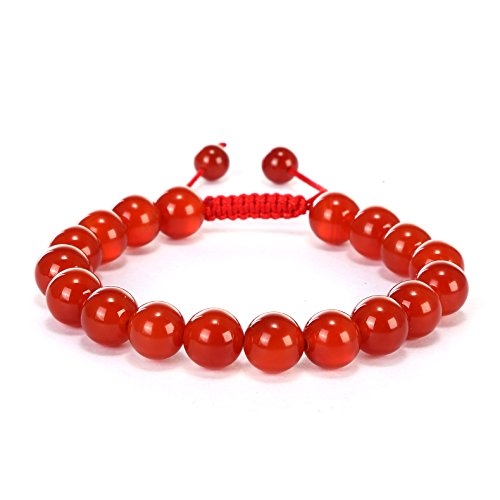 BRCbeads Gemstone Bracelets Red Agate Natural Gemstones Enhance Color