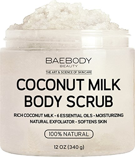 Baebody Coconut Milk Body Scrub: With Dead Sea Salt
