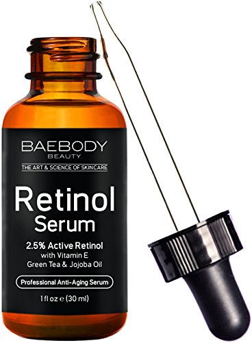Baebody Retinol Serum 2.5% for Face, Professional Anti-Aging Topical