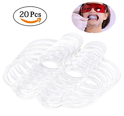 Bassion 20 Pcs Dental C-Shape Intraoral Cheek Lip Retractor