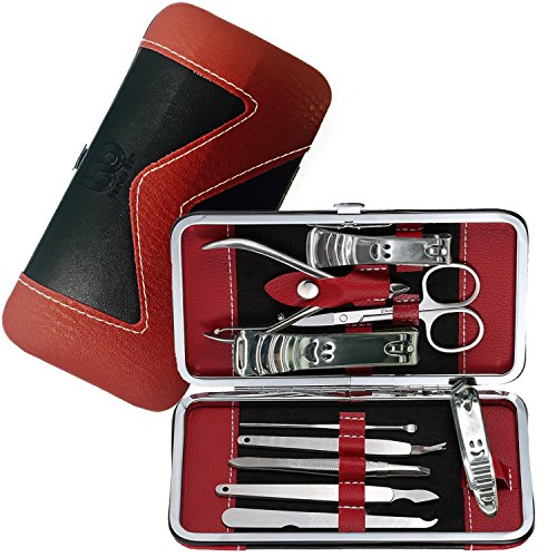 Manicure, Pedicure Kit, Nail Clippers Set of 10, Stainless