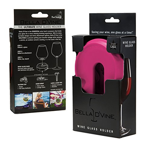 Bella D'Vine - Outdoor Wine Glass Holder (Fuchsia)