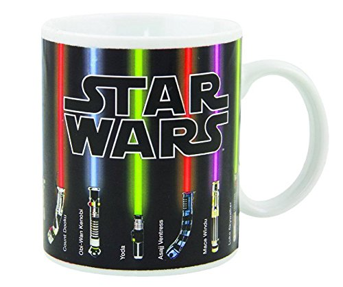 Star Wars Mug, Lightsabers Appear With Heat (12 oz)