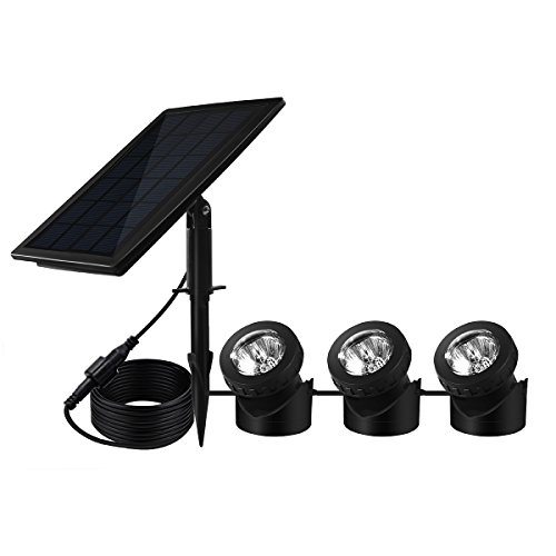 Solar Powered Pond Light Waterproof IP68, BeneStellar 18 LED