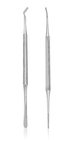 Ingrown Toenail File and Lifter Set. Premium Grade Stainless