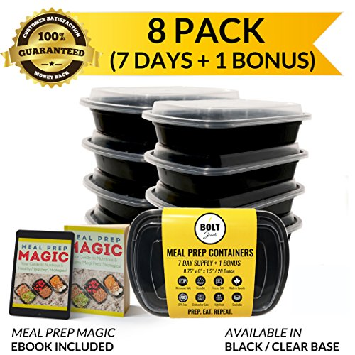 SALE!! Bolt Goods 1 Compartment Plastic Meal Prep Containers