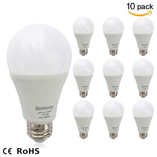 Bomcosy 7W A19 E26 LED Bulbs,40-60 Watt Incandescent Bulbs
