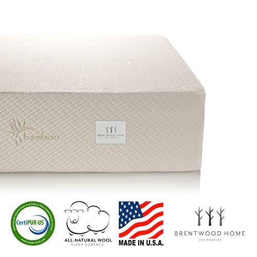 Brentwood Home Cypress Mattress, Bamboo Derived Rayon Cover, Gel