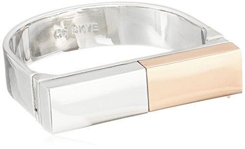 $117.60 CC Skye Rhodium and Rose Gold-Plated Platform Statement Cuff