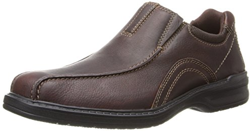 Clarks Men's Sherwin Time Slip-On Loafer,Brown Tumbled Leather,13 M