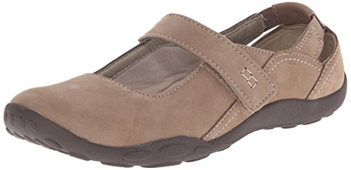 Clarks Women's Haley Luna Mary Jane Flat, Taupe Nubuck
