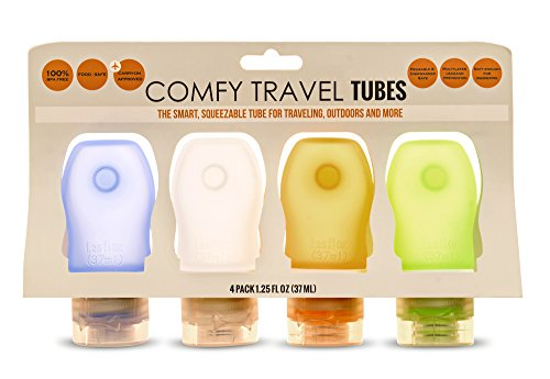 COMFY TRAVEL Small Silicone Bottles Set of 4 x