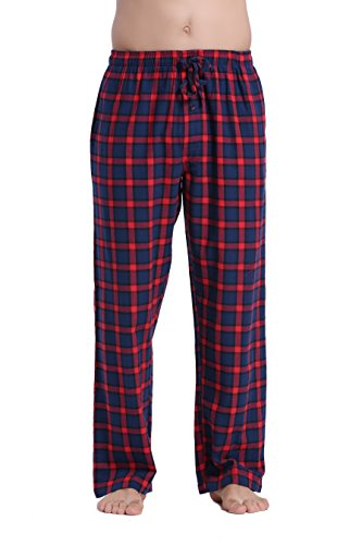 CYZ Men's 100% Cotton Super Soft Flannel Plaid Pajama