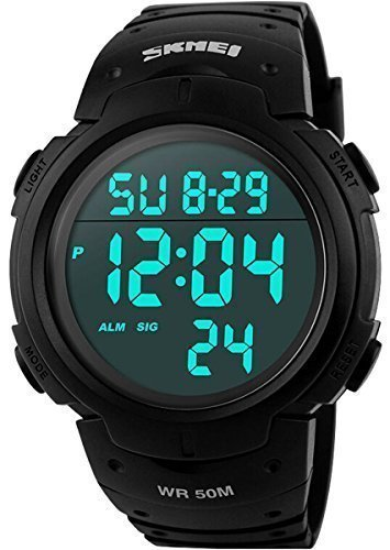 CakCity Military Mens Sport Simple Design Digital LED Screen