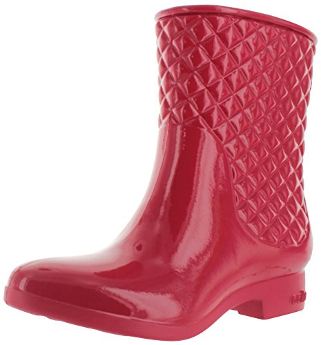 Ccilu Drift Women's Quilted Equestrian Short Rain Boots Red