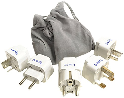 Ceptics GP-5PK International Travel Worldwide Plug Adapter Set