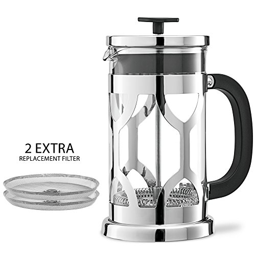 Chef's Star French Press 34oz Coffee Maker,Hi Qualty Stainless