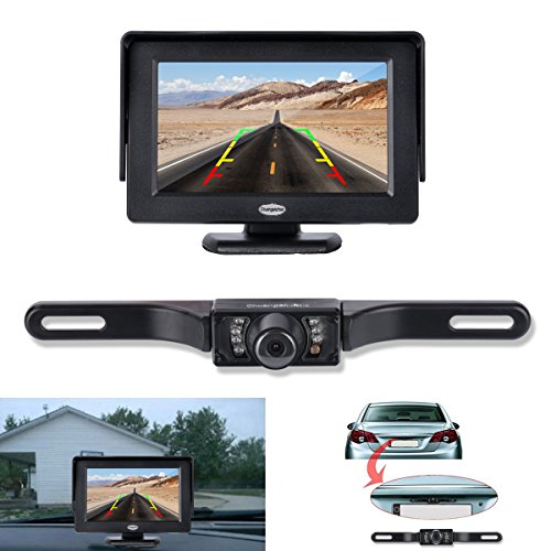 Backup Camera and Monitor Kit, Chuanganzhuo License Plate CMOS