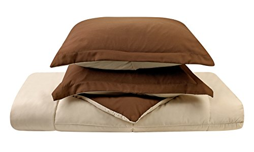 Clara Clark 3-Piece Goose Down Alternative Reversible Comforter Set