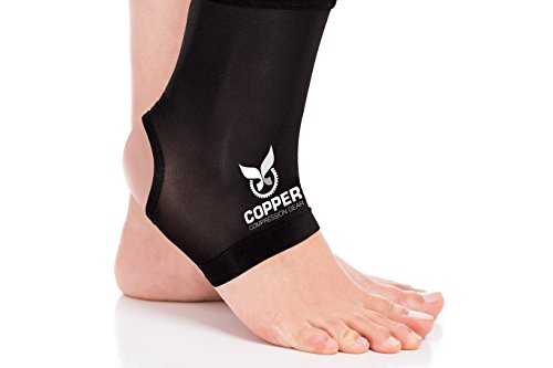 Copper Compression Gear PREMIUM Fit Recovery Ankle Sleeve -