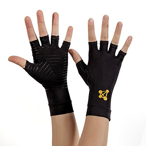 CopperJoint Arthritis Gloves 1 Copper Infused Compression - GUARANTEED