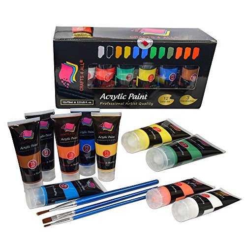 Crafts 4 All Acrylic Paint Studio Paints Set Professional