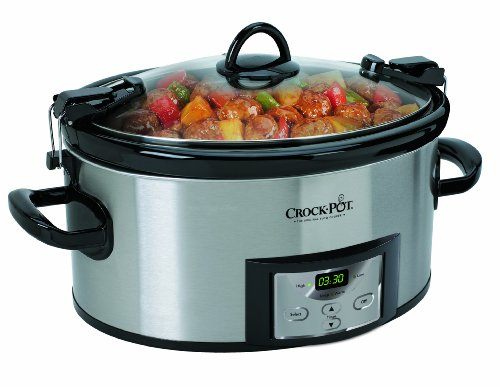 Crock-Pot SCCPVL610-S 6-Quart Programmable Cook and Carry Oval Slow
