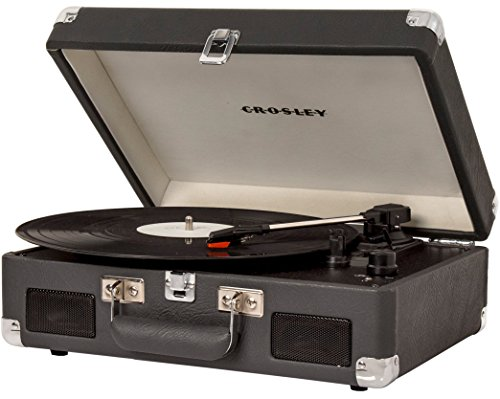 Crosley CR8005C-CL Cruiser II Portable Battery Powered 3-Speed Turntable