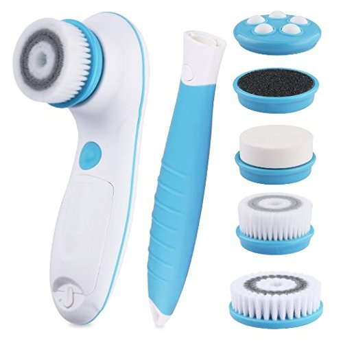 DBPOWER 6-in-1 Waterproof Electric Facial and Body Cleansing Brush