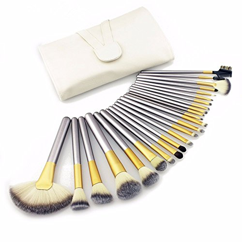 DE'LANCI Professional 24Pcs Cosmetics Foundation Blending Makeup Brush Set