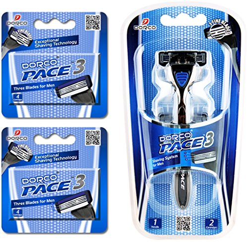 Dorco Pace 3- Three Razor Blade Shaving System- Value