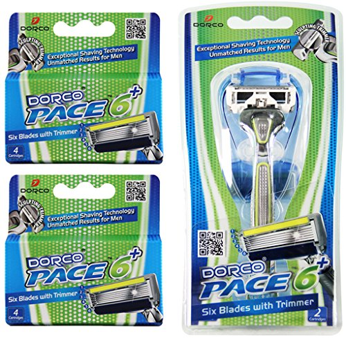 Dorco Pace 6 Plus- Six Blade Razor System with