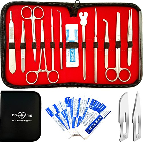 22 Pcs Advanced Dissection Kit For Anatomy  Biology