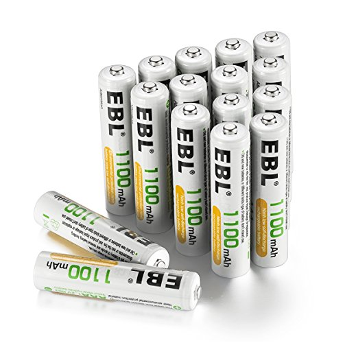EBL Rechargeable AAA Batteries (16-Counts) High Capacity 1100mAh Ni-MH