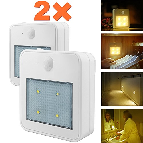 Closet Light,Wall Night Lights,Eonfine Motion Sensor Lights Battery Powered