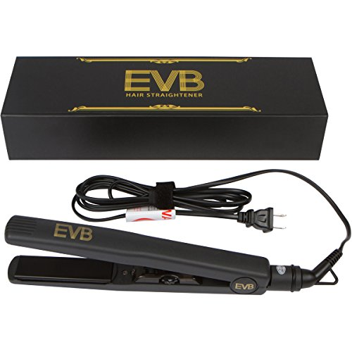 EVB Proline Ceramic-Tourmaline Ion Flat Iron Hair Straightener