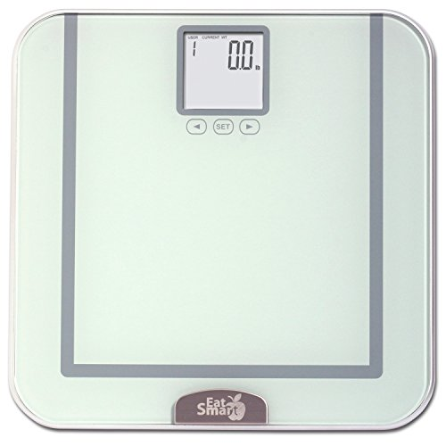 EatSmart Precision Tracker Digital Bathroom Scale w/ 400 lb