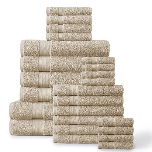24-Piece 500 GSM Towel Set, Beige