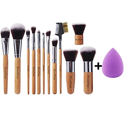EmaxDesign 12+1 Pieces Makeup Brush Set, 12 Pieces Professional