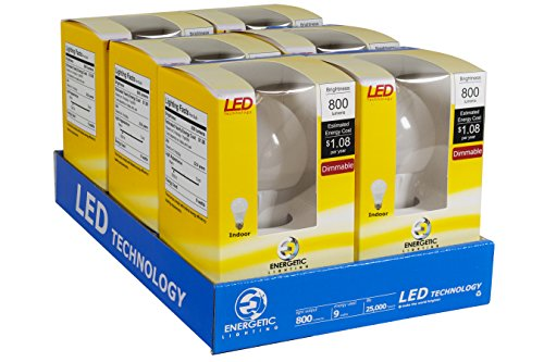$43.99 Energetic Lighting ELY09D-EAS-VB-6 A19 - 60 Watt Equivalent Soft