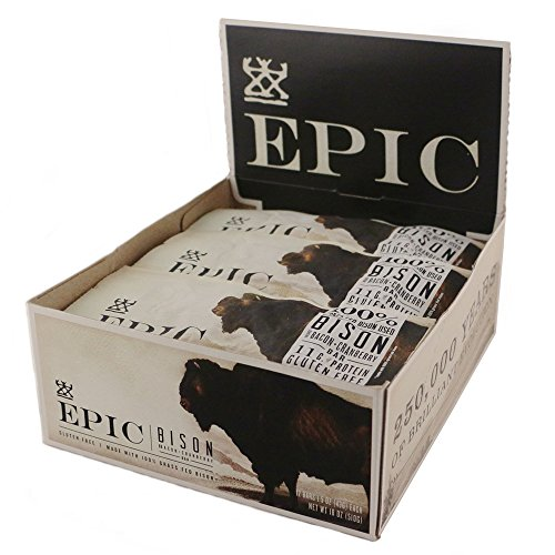 $25.99 Epic All Natural Meat Bar, 100% Grass Fed, Bison,