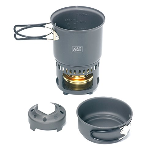 $32.07 Esbit CS985HA 5-Piece Lightweight Trekking Cook Set with Brass