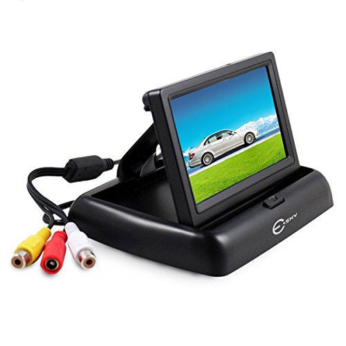 Backup Camera Monitor, Esky Foldable 4.3 Inch Anti-Glare Color