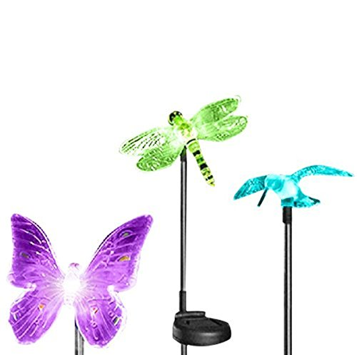 Esky Solar Powered Outdoor Hummingbird, Butterfly  Dragonfly Solar