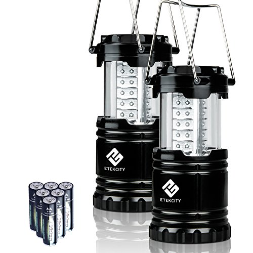 Etekcity 2 Pack Portable Outdoor LED Camping Lantern Flashlight