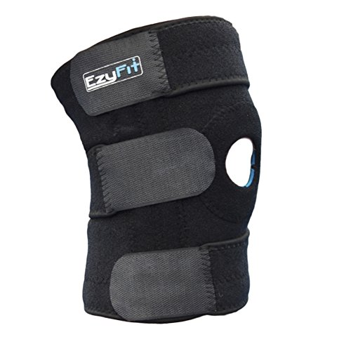 EzyFit Adjustable Neoprene Knee Brace Support with Open Patella