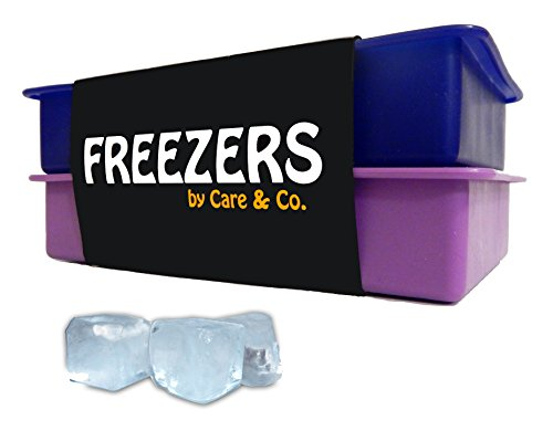Perfect Size Silicone Ice Cube Tray, Set of 2