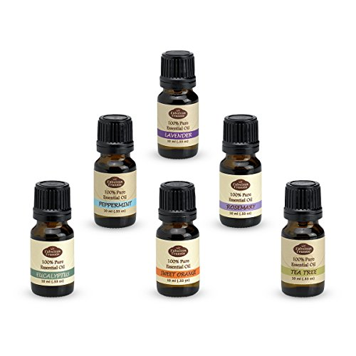 Aromatherapy Top 6 Essential Oil Gift Set Sampler Kit