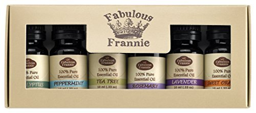 Fabulous Frannie High-Quality 6-Pack Aromatherapy Basic Sampler Gift Set